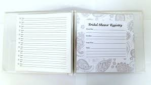 wedding gift registration pressed clovers shower registry book great gift idea