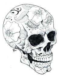 day of the dead printable coloring pages sugar skull print out day
