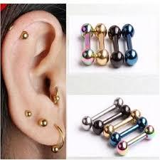 earring helix aliexpress buy 1 ear nail bone barbell earring