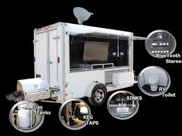 tailgate bathroom tailgating trailer builds options ready 2 roll trailers com