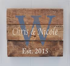 wedding gift name sign plank wood sign personalized name sign wedding gift