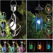 solar powered wind chime light hanging colour changing solar powered wind chime light wind