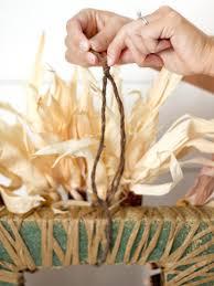 how to make a square corn husk wreath hgtv
