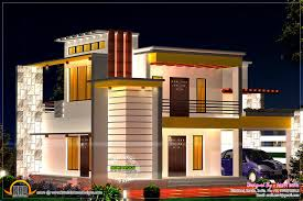flat roof plans home with floor plan kerala design and