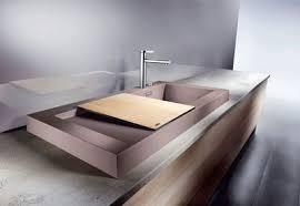 evier cuisine design meuble cuisine evier integre 3 poser gouttoir et bac en