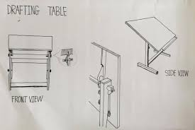 Drafting Table Cover Detailing And Working Drawing