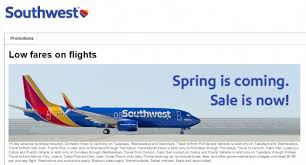 southwest sale spring southwest flight sale fares from just 47 one way