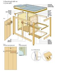 Free Wood Shelf Bracket Plans by Free Bbq Cart Wood Plans