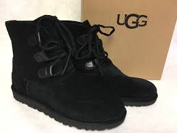 s lace up ankle boots australia ugg australia elvi 1017534 s black suede laceup bootie ankle