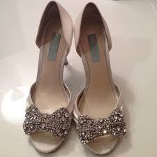 betsey johnson blue wedding shoes 54 betsey johnson shoes blue by betsey johnson ivory bow