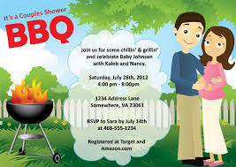 baby shower for couples couples baby shower bbq invitation