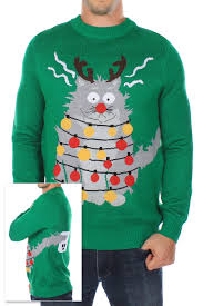 ugly cat sweaters cat christmas sweaters tipsy elves