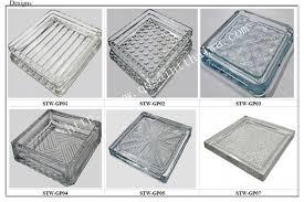 200x200x27mm 160x160x25mm transparent glass floor tiles for sale