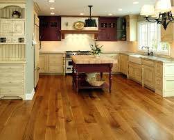 elegant kitchen designed with distressed cabinets and hardwood