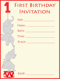 1st birthday invitations make your own or find a template