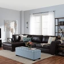 Leather Sectional Couch With Chaise Orland Brown Leather Modern Sectional Sofa Set With Left Facing