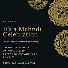 mehndi invitation black and gold floral ornate mehndi invitation templates by canva