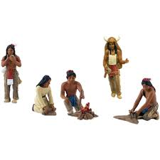 Blackfoot Indian Flag Native American Figurines 6 Pkg Walmart Com