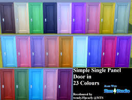 mod the sims simple single panel door 23 colours