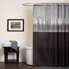 Lush Shower Curtains Lush Decor Sky Black Grey Shower Curtain Free Shipping
