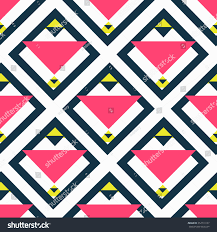 Pop Art Rugs Creative Seamless Abstract Geometric Triangle Background Stock