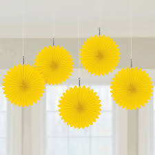 party fans themed table settings hanging party fans decorations paper