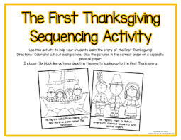 thanksgiving sequence activity by kindergarten creator tpt