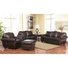 austin top grain leather sectional with ottoman abbyson richfield top grain leather 4 piece living room set free