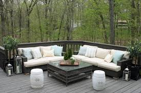 Patio Furniture Sectional Seating - dining room comfortable wicker sectional sofa with grandinroad