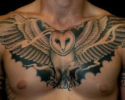 owl chest designs ideas and meaning tattoos for you