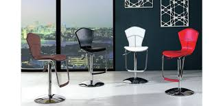 Brown Leather Bar Stool B8008 Bar Stools In Red Black Cream And Brown Leather