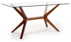 Wooden Base For Glass Dining Table Glass Table With Wood Base 17254 Evantbyrne Info