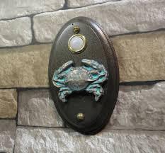 nautical coastal crab doorbell lighted