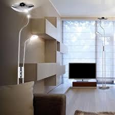 stehlampe deckenfluter led deckenfluter chrom standleuchte wohnzimmer leselampe stehlampe