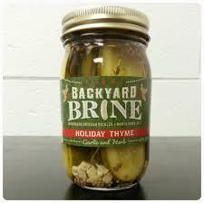 backyard brine artisan pickles holiday thyme 16 oz