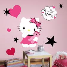 hello kitty wall decals walmart best decal ideas new large cute hello kitty wall decal highest quallity mural bow giant playful accent polka dots