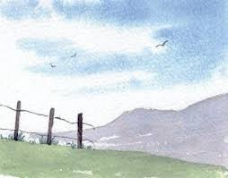 how to paint a simple landscape introduction to watercolour