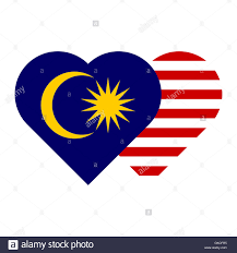 Maylasia Flag Jpeg Malaysia Flag Heart Shape Stock Photo Royalty Free Image