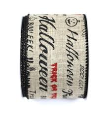 2 5 x 10yd haunted natural phrases wired ribbon halloween