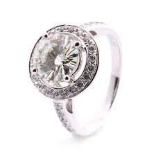 White Gold Cz Wedding Rings by 14k White Gold Cubic Zirconia Engagement Rings Promotion Shop For