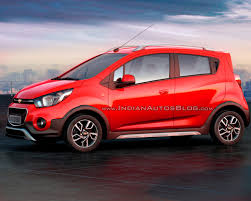 redcolor chevrolet beat activ rendered in red color indian autos blog