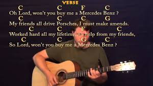 lord won t you buy me a mercedes janis joplin strum guitar cover lesson with lyrics