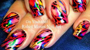 diy rainbow nails opal foil butterfly wings nail art design