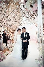 cherry blossom wedding cherry blossoms aisle decor the celebration society