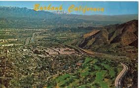 burbank aerial postcard fernando valley blog