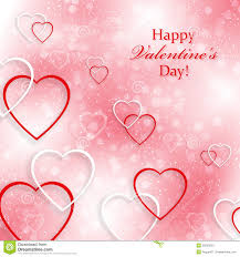 beautiful background for valentines day with heart stock