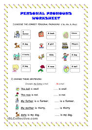 personal pronouns worksheet kindergarten level learn english