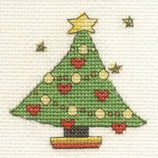 Mini Christmas Tree With Decorating Kit by Dmc Mini Cross Stitch Kit Christmas 16 Designs Santa Snowman