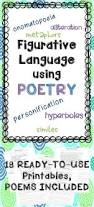 figurative language in poetry no prep poetry activities and