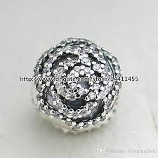 sterling pandora style bracelet images 925 sterling silver rose clip charm bead with cz fit european jpg